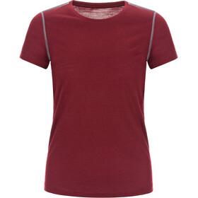super.natural Base 175 Camiseta Mujer, pomegranate/quiet shade